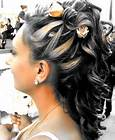 Wedding Updo with blond highlights