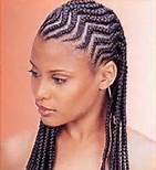 African american female with zig-zag cornrows hairstyle